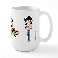 Tina in Blue Jeans Large Mug