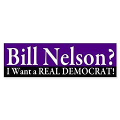 Reject Bill Nelson Bumper Bumper Sticker