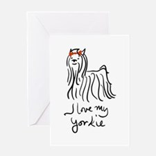 Unique Yorkie poo Greeting Card
