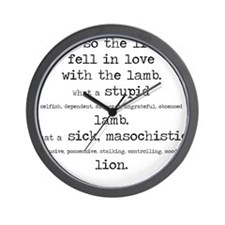 Cute And so the lion fell in love with the lamb Wall Clock