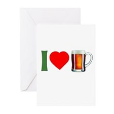 I Love Beer Greeting Cards (Pk of 10)