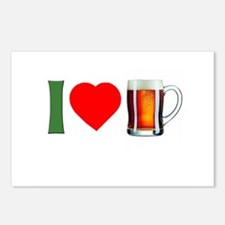 I Love Beer Postcards (Package of 8)