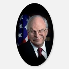 SNARLING VICE PRESIDENT CHENEY Oval Decal