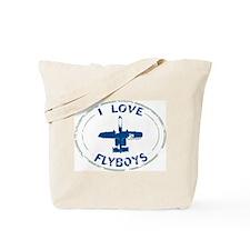 I Love Flyboys -navy/green Tote Bag