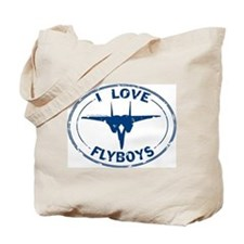 I Love Flyboys -navy Tote Bag