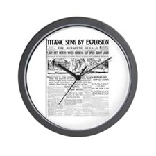 Titanic Sunk by Explosion Wall Clock