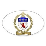 PATE Family Crest Oval Sticker (10 pk)