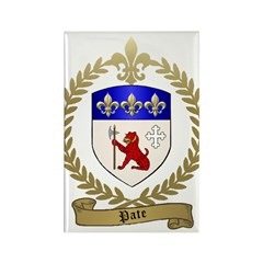 PATE Family Crest Rectangle Magnet (10 pack)