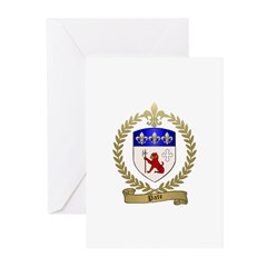 PATE Family Crest Greeting Cards (Pk of 10)