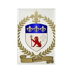 POTTIE Family Crest Rectangle Magnet (10 pack)