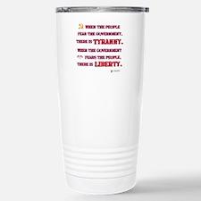 Tyranny & Liberty Stainless Steel Travel Mug