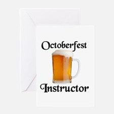 BEER DRINKING INSTRUCTOR Greeting Card