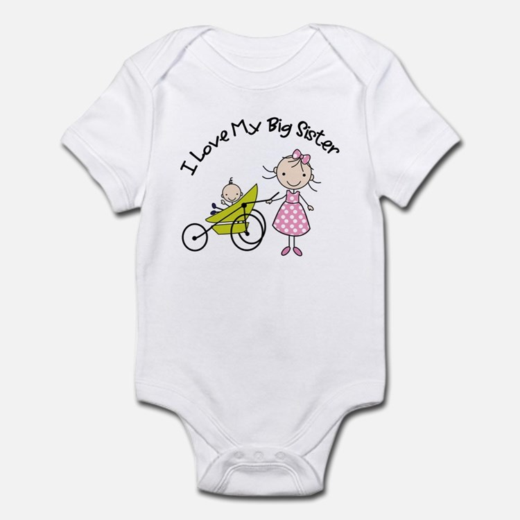 little brother big sister matching shirts Onesie