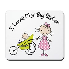 little brother big sister matching shirts Mousepad