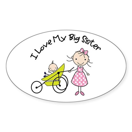 little brother big sister matching shirts Sticker