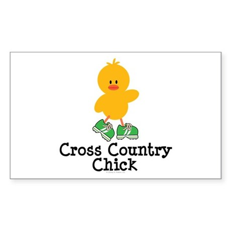 Cross Country Chick Rectangle Sticker