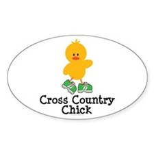 Cross Country Chick Oval Decal