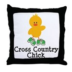 Cross Country Chick Throw Pillow