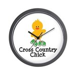 Cross Country Chick Wall Clock