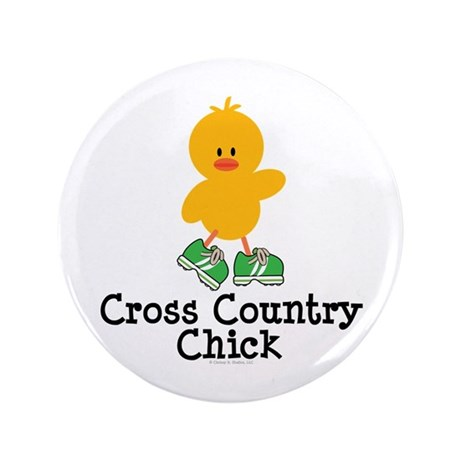 "Cross Country Chick 3.5"" Button (100 pack)"