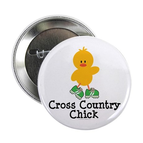 """Cross Country Chick 2.25"""" Button (10 pack)"""