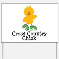 Cross Country Chick Yard Sign