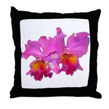Pink Cattleya Throw Pillow