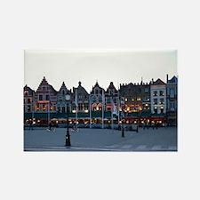 Bruges at Night Rectangle Magnet