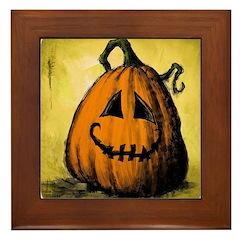Vintage Pumpkin Framed Tile