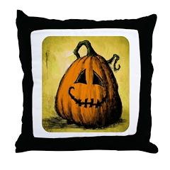 Vintage Pumpkin Throw Pillow