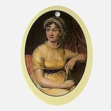 Jane Austen Portrait Oval Ornament