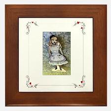 Paper Doll Alice in Wonderland framed Tile