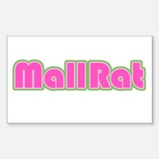 Mall Rat Rectangle Decal