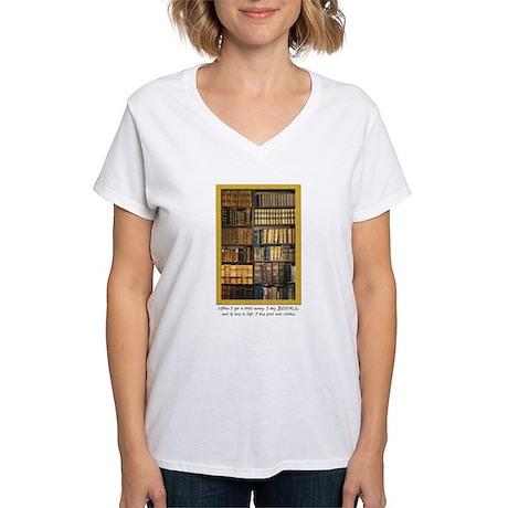 Erasmus Quote Women's V-Neck T-Shirt