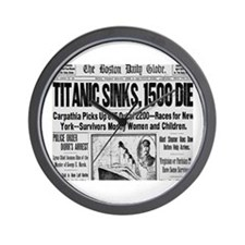 Titanic Sinks, 1500 Die Wall Clock