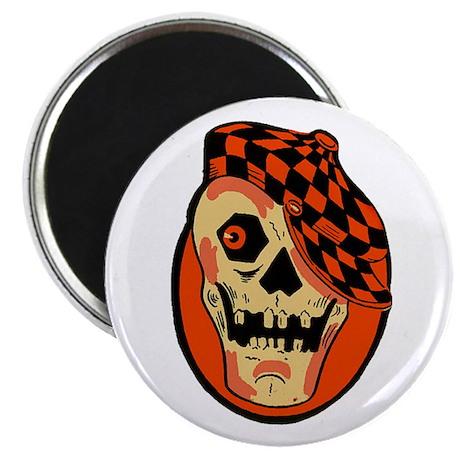 Rockabilly Halloween Skull Magnet