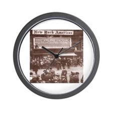 Titanic News Placard Wall Clock