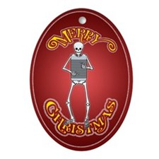 Skeleton Rubboard Player Christmas Ornament