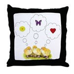 Chickie Daydreams Throw Pillow