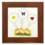 Chickie Daydreams Framed Tile