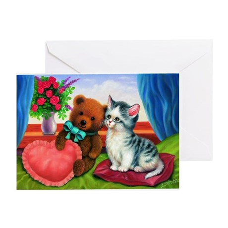 cuddly kittens Greeting Cards (Pk of 10)