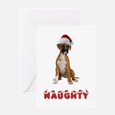 Naughty Boxer Greeting Card