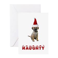 Naughty Puggle Greeting Card