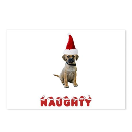 Naughty Puggle Postcards (Package of 8)