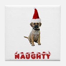 Naughty Puggle Tile Coaster