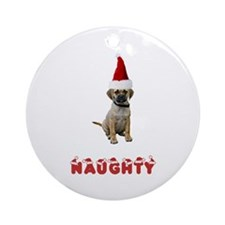 Naughty Puggle Ornament (Round)