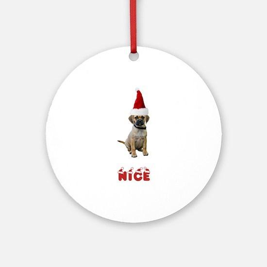 Nice Puggle Ornament (Round)