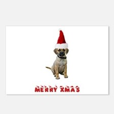 Puggle Christmas Postcards (Package of 8)