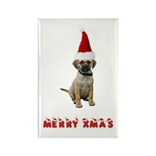 Puggle Christmas Rectangle Magnet