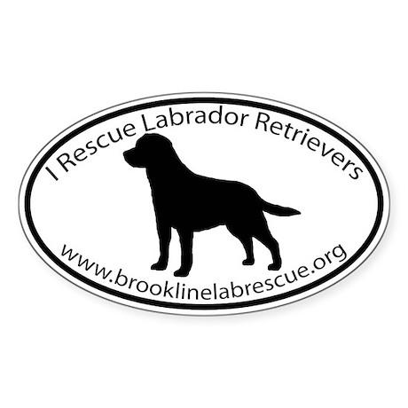 BROOKLINE LAB RESCUE Sticker (Oval)